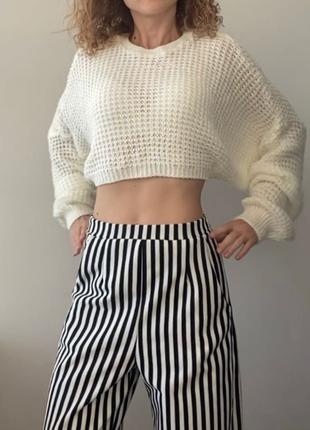 Кремовый вязаный свитер cropp top цвета шампанского от PLT