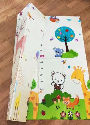 Детский складной, игровой коврик Бебипол ( Babypol ) 180х200х1см
