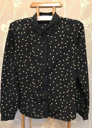 Очень красивая и стильная брендовая блузка в горох.