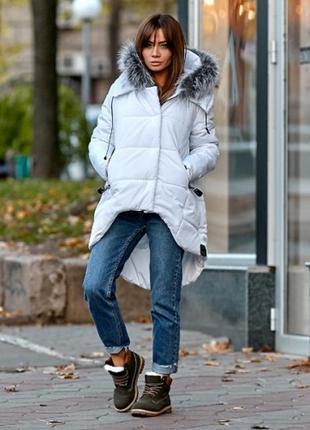 Куртка - парка зимняя с натуральным мехом