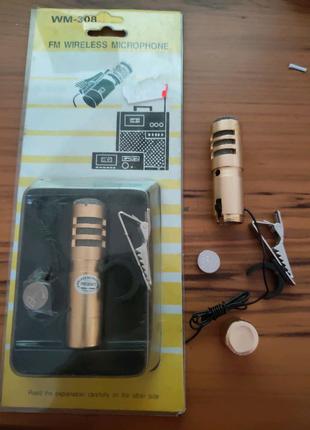 Радиомикрофон петличка FM диапазон WM-308 FM Wireless