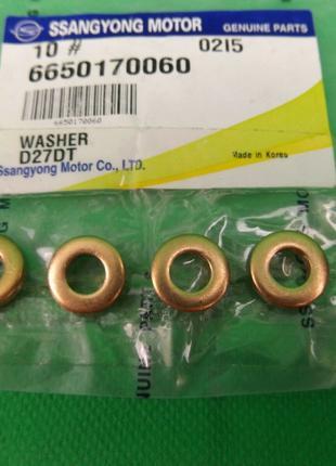 Кольцо уплотнительное форсунки топливной (6650170060) Ssang Yong