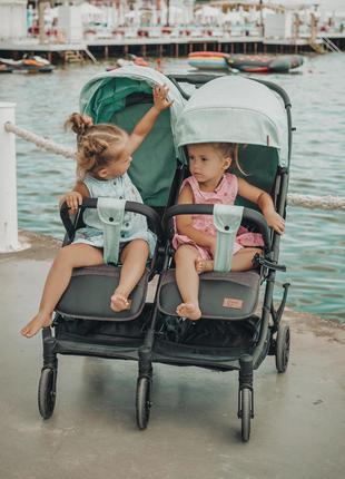 Прогулочная коляска для двойни/ близнецов Carrello Presto Duo