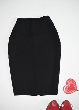 Классическая черная юбка по фигуре h&m на работу, школу, униве...