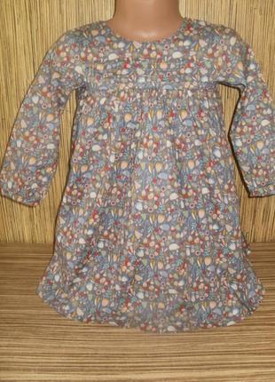 Платье с рукавом на 12-18 мес