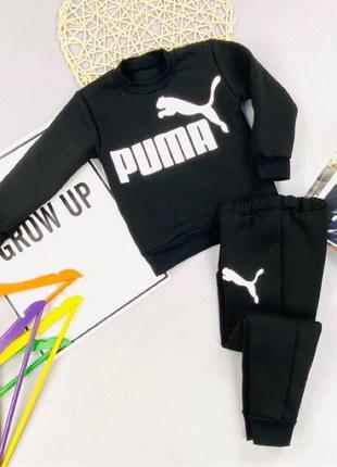Черный спортивный костюм комплект для мальчика Puma