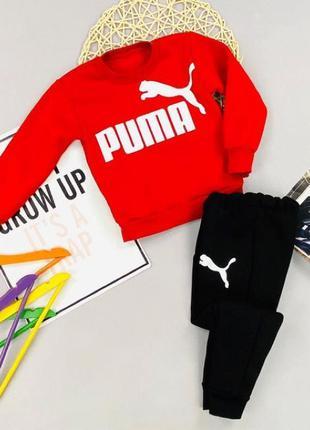 Красный спортивный костюм комплект для мальчика Puma