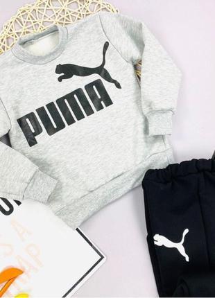 Серый спортивный костюм комплект для мальчика Puma