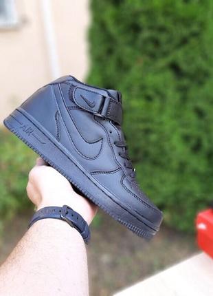 Зимние ботинки Nike Air Force (черные)