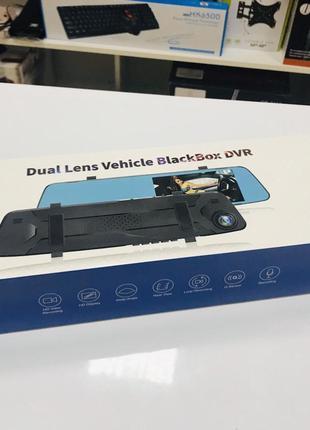 Автомобильное зеркало видеорегистратор для машины на 2 камеры VEH