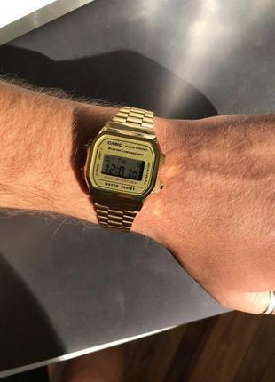 Часы casio illuminator gold / золотые / мужские / женские