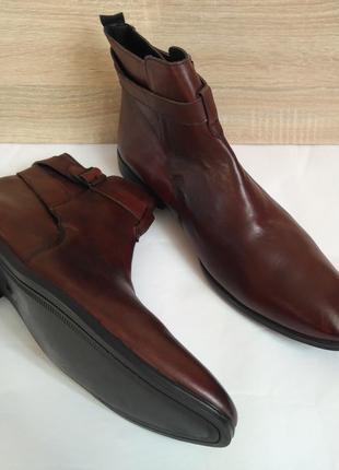 Ботинки челси 100% кожа туфли полуботинки осенние деми