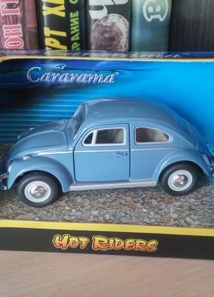Volkswagen Beetle 1964, ранняя Cararama/HotRiders/Hongwell, 1:43
