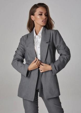 Пиджак жакет серый