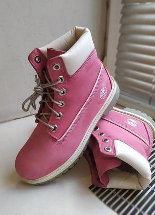 Демисезонные кожаные ботинки timberland оригинал
