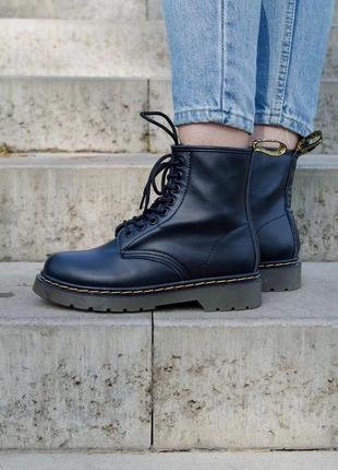 Dr. martens 1460 black женские стильные ботинки наложка