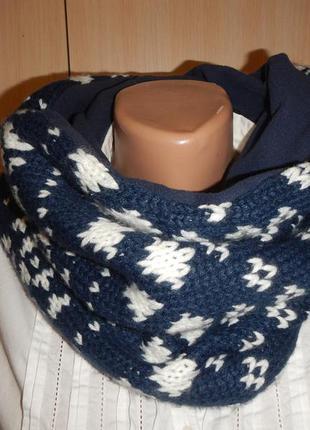 Тёплый баф шарф tcm