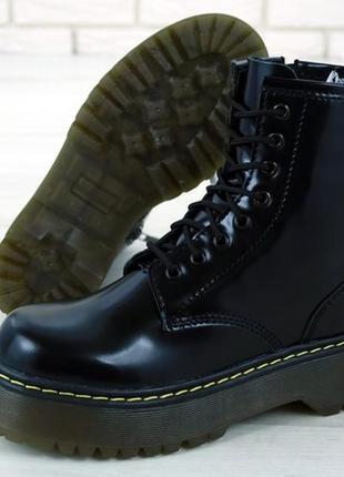 💖новинка💖женские кожаные ботинки dr. martens jadon. демисезонн...