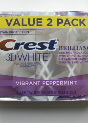 Утренняя рутина с зубной пастой Crest 3D White