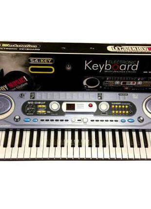 Детское пианино MQ020FM, синтезатор, FM радио, микрофон