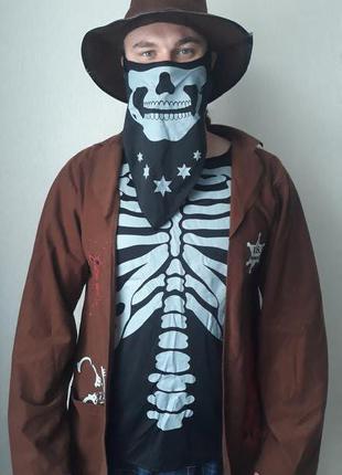Костюм на Хеллоуин Шериф скелет