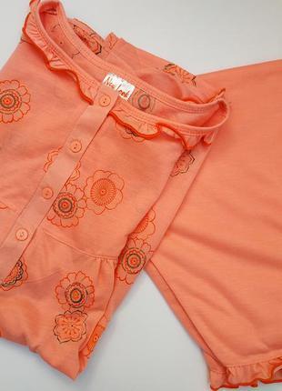 Хлопковая пижама с шортами  для сна* пижама