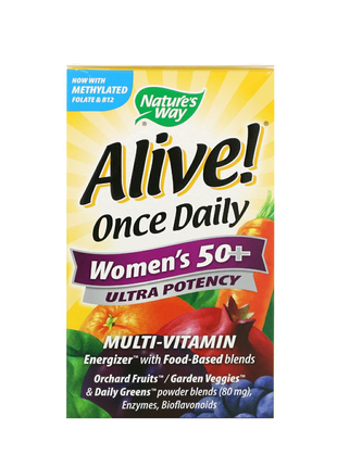 Мультивитамины для женщин 50+(Alive! Women's multi-vitamin)60 таб