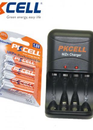 Аккумуляторы PKCELL NI-Zn 1,6 в ААА + Зарядное