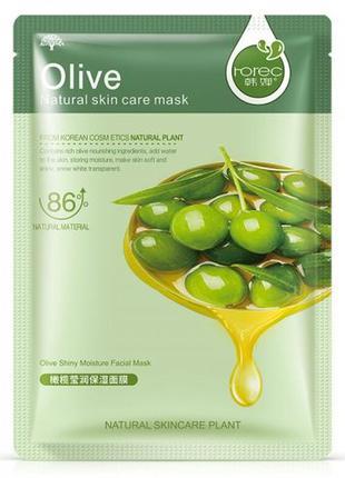 Поживна тканинна маска для обличчя з оливою rorec olive (30г)