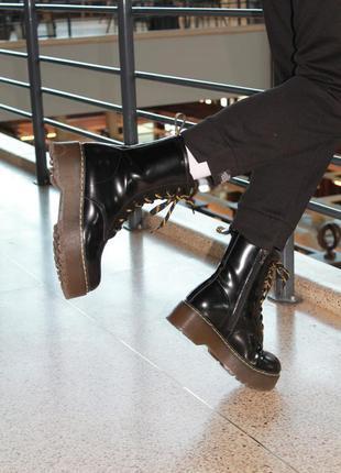 Женские ботинки кожа лак