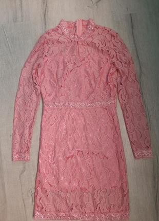 Стильное нарядное женское платье кружево