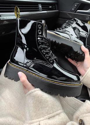 Dr.martens patent black 🆕 шикарные ботинки доктор мартинс 🆕 ку...