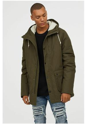H&m теплая парка, куртка осень/еврозима xl, швеция