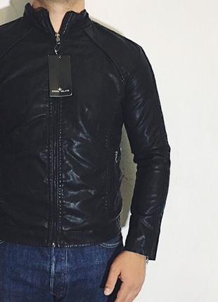Мужская куртка stone island ( стоун айленд мрр новая черная)