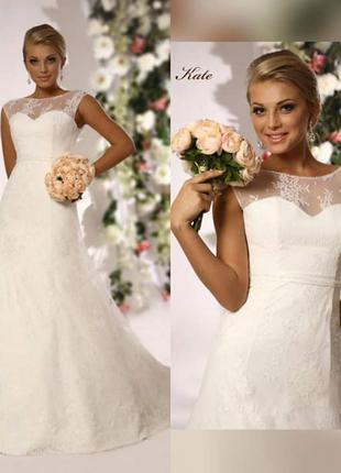Свадебное шлейфовое платье