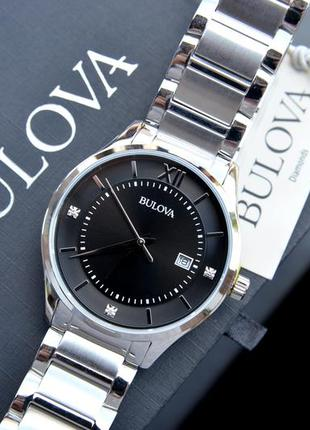 Мужские часы с бриллиантами bulova, подарок мужчине на праздник!