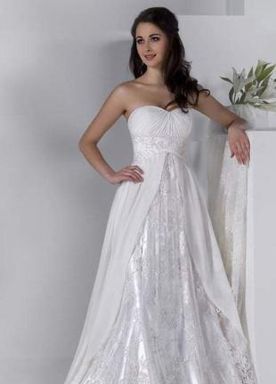 Свадебное новое платье в греческом стиле
