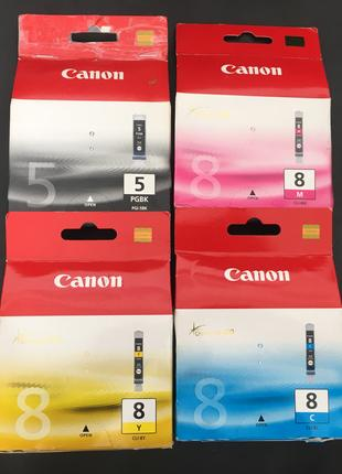 Картриджі Canon 5PGBK(PGI-5BK), 8C(CLI-8C), 8M(CLI-8M), 8Y(CLI-8Y