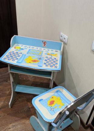 """Детский стол со стулом """"Растишка"""". Много положений"""