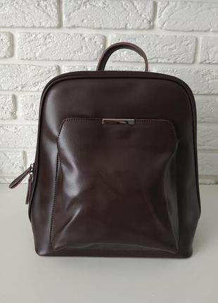 Вместительный кожаный рюкзак для формата а4