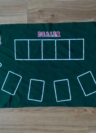 Покерный стол скатерть с разметкой для покера