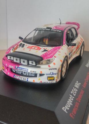 Модель Peugeot 206 WRC, Altaya/Ixo, масштаб 1/43