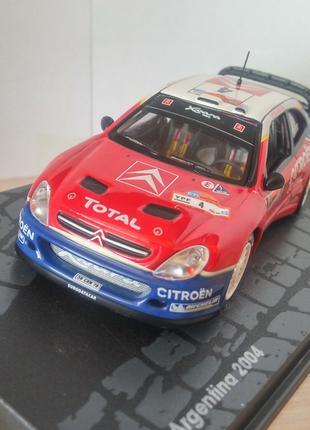 модель Citroen Xsara WRC, Altaya/Ixo, масштаб 1/43