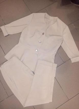 Классный женский костюм 💎 пиджак рукав 3/4+укороченые брючки с...