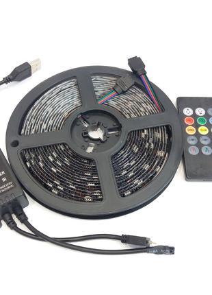 Светодиодная лента RGB Music DC5V 5050 5м Работает в такт музыки