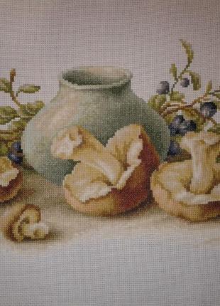 """Картина в интерьер, подарок """"Натюрморт с грибами"""""""