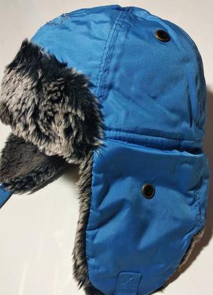 Шапка-ушанка женская reebok голубая жіноча