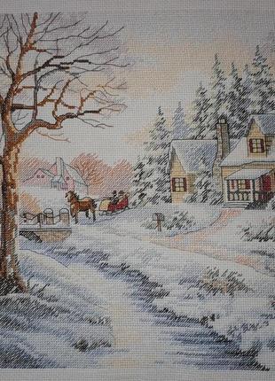 """Картина в интерьер, подарок """"Зимний вечер"""""""
