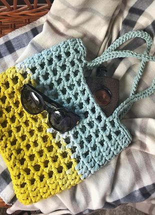 Пляжная сумка вязаная сумка ручной работы