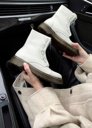 Dr.martens sinclair ivory 👢 женские ботинки доктор мартинс 👢 б...